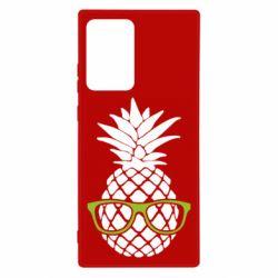 Чехол для Samsung Note 20 Ultra Pineapple with glasses