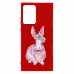 Чохол для Samsung Note 20 Ultra Pink bunny with flowers on her head