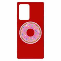 Чохол для Samsung Note 20 Ultra Pink donut on a background of patterns