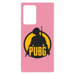 Чехол для Samsung Note 20 Ultra PUBG logo and game hero