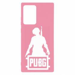 Чехол для Samsung Note 20 Ultra PUBG logo and hero