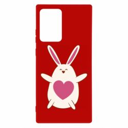 Чехол для Samsung Note 20 Ultra Rabbit with a pink heart