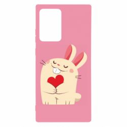 Чехол для Samsung Note 20 Ultra Rabbit with heart