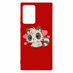 Чехол для Samsung Note 20 Ultra Raccoon chibi