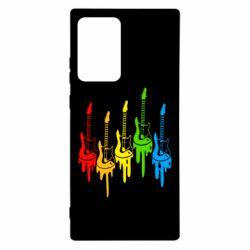 Чехол для Samsung Note 20 Ultra Разноцветные гитары