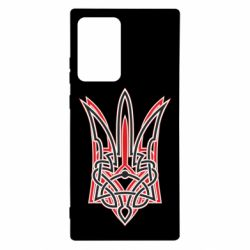 Чехол для Samsung Note 20 Ultra Red and black coat of arms of Ukraine