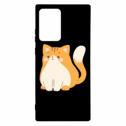 Чехол для Samsung Note 20 Ultra Red cat with stripes
