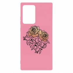Чохол для Samsung Note 20 Ultra Roses with patterns