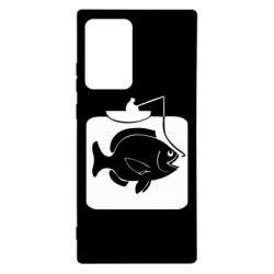 Чехол для Samsung Note 20 Ultra Рыба на крючке