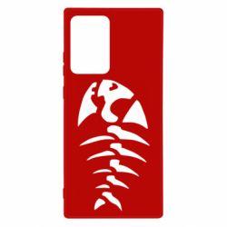Чехол для Samsung Note 20 Ultra скелет рыбки