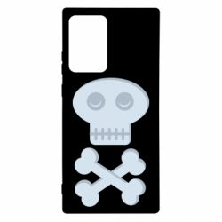 Чехол для Samsung Note 20 Ultra Skull and bones minimalism