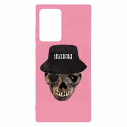 Чехол для Samsung Note 20 Ultra Skull in hat and text