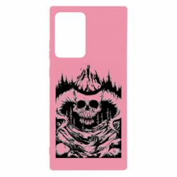 Чехол для Samsung Note 20 Ultra Skull with horns in the forest