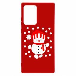 Чехол для Samsung Note 20 Ultra Снеговик в шапке