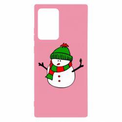 Чехол для Samsung Note 20 Ultra Снеговик