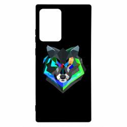 Чехол для Samsung Note 20 Ultra Сolorful wolf
