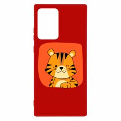 Чехол для Samsung Note 20 Ultra Striped tiger with smile