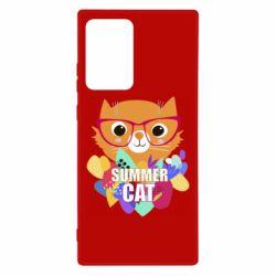 Чехол для Samsung Note 20 Ultra Summer cat