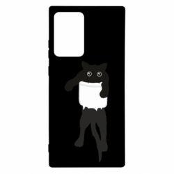Чехол для Samsung Note 20 Ultra The cat tore the pocket