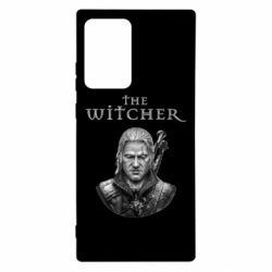 Чехол для Samsung Note 20 Ultra The witcher art black and gray