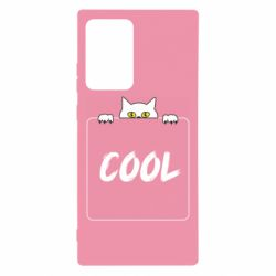 Чехол для Samsung Note 20 Ultra Top cat and the inscription cool