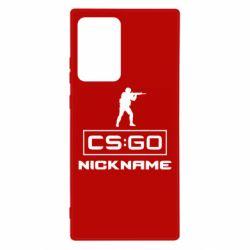 Чехол для Samsung Note 20 Ultra Ваш псевдоним в игре CsGo