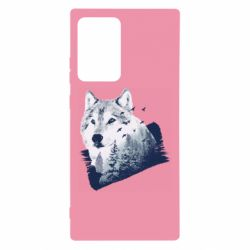 Чехол для Samsung Note 20 Ultra Wolf and forest