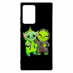 Чехол для Samsung Note 20 Ultra Yoda and Grinch