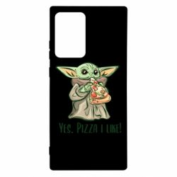 Чехол для Samsung Note 20 Ultra Yoda and pizza