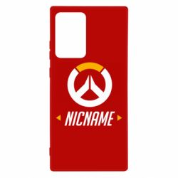 Чехол для Samsung Note 20 Ultra Your Nickname Overwatch