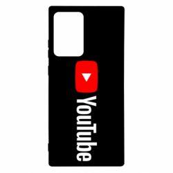 Чехол для Samsung Note 20 Ultra Youtube logotype