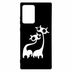 Чехол для Samsung Note 20 Ultra Жирафы