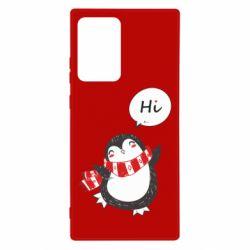 Чохол для Samsung Note 20 Ultra Зимовий пингвинчик