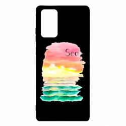 Чехол для Samsung Note 20 Watercolor pattern with sea