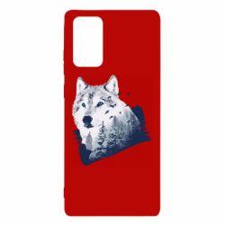Чехол для Samsung Note 20 Wolf and forest
