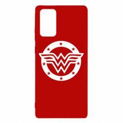 Чехол для Samsung Note 20 Wonder woman logo and stars
