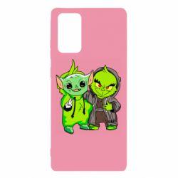 Чехол для Samsung Note 20 Yoda and Grinch