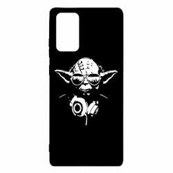 Чехол для Samsung Note 20 Yoda в наушниках