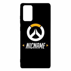 Чехол для Samsung Note 20 Your Nickname Overwatch
