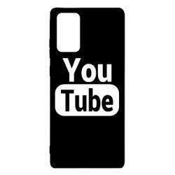 Чохол для Samsung Note 20 Youtube vertical logo