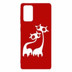 Чехол для Samsung Note 20 Жирафы