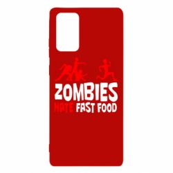 Чохол для Samsung Note 20 Zombies hate fast food