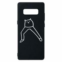 Чохол для Samsung Note 8 Cat in pants