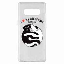 Чехол для Samsung Note 8 Cats and love