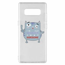 Чехол для Samsung Note 8 Cute cat and text