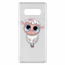 Чехол для Samsung Note 8 Cute lamb with big eyes