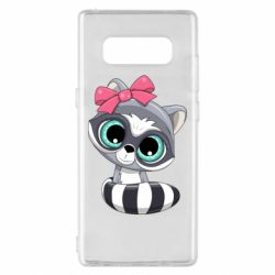 Чехол для Samsung Note 8 Cute raccoon