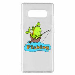 Чехол для Samsung Note 8 Fish Fishing