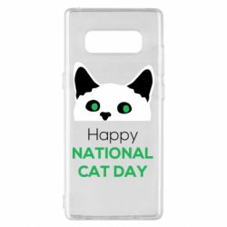 Чехол для Samsung Note 8 Happy National Cat Day