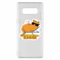Чохол для Samsung Note 8 Котик на пляжі